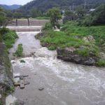 増水している柊野ダム