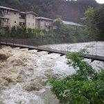 増水した賀茂川