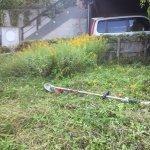 草刈り機は便利!